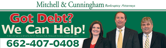 Mitchell and Cunningham PC Bankruptcy Attorney Tupelo Corinth Mississippi Jackson Tennessee